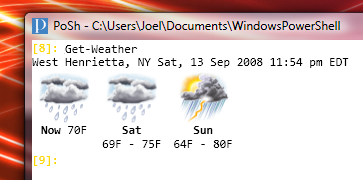 Weather in PoshConsole