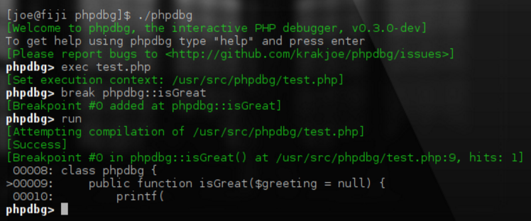 PHP DBG - Stepthrough Debugging - screenshot