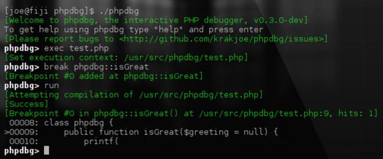 PHP DBG - Stepthrough Debugging - screenshot